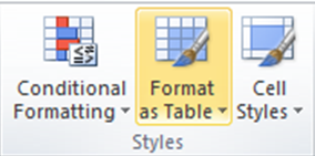 How to turn your Data into a Table in Excel
