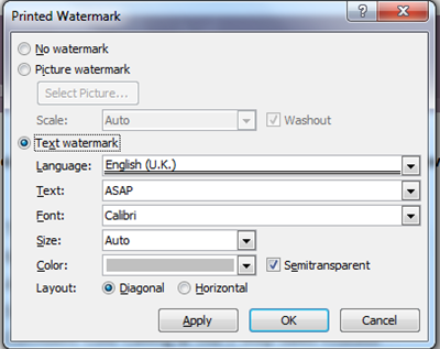 How to add a Watermark in Word