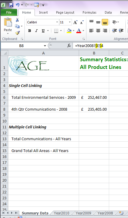 Excel 2010 Worksheet : Linking two worksheets in excel how to link