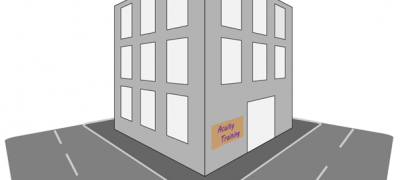 Using the perspective grid to create a building