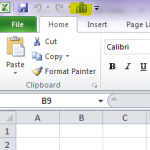 How to customise the QAT in Excel