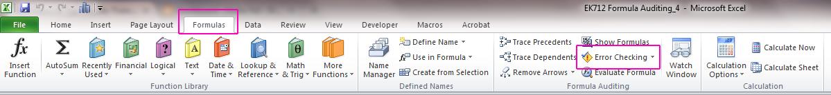 Excel Toolbar