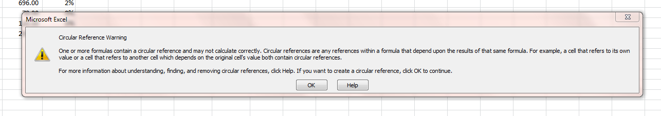 how to create circular reference in excel