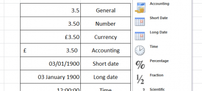 Excel Number Formatting