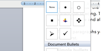 how to change spacing of bullets in word