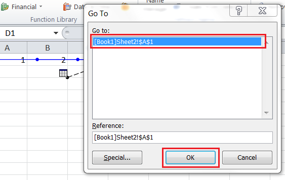 Excel For SEO - Appendix 1 - 18 - Precedent Cells Off Sheet - Go To Dialogue Box