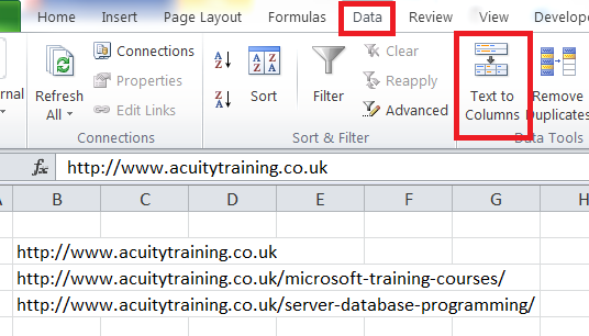 Excel For SEO - Ch 2 - 10 Text To Columns