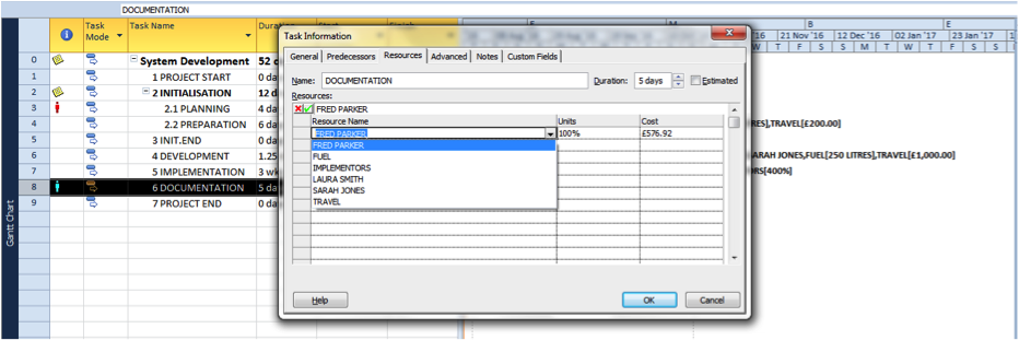 Substituting resources to allow for an overallocation in Microsoft Project