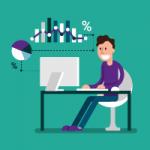 Man processing data in Excel Power BI