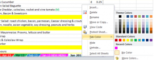 How to colour your Sheets Tab in Excel