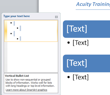 How to turn you Bullet list into SmartArt in Word