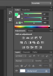 photoshop - gradient tool