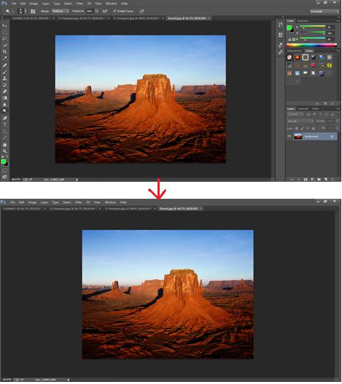 photoshop - hide palettes