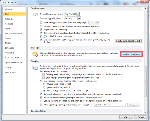 how to turn off read outlook