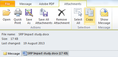 Attachments Outlook Training