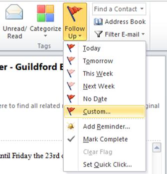 Follow Up Outlook Training