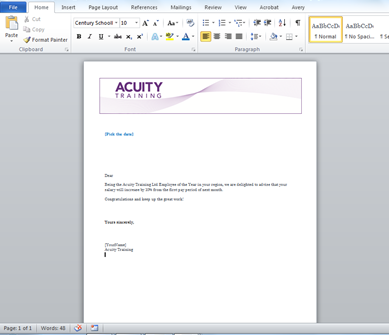 How do I use Mail Merge in Word 2007 or 2010
