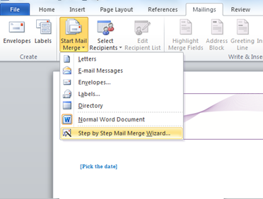 how do i use mail merge in word 2007 or 2010 acuity training rh acuitytraining co uk Mail Merge Icon Mail Merge Logo