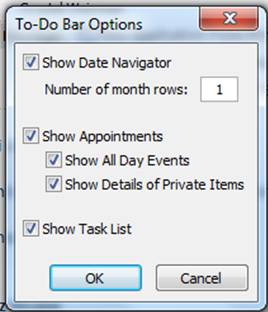 What is the To Do Bar in Outlook 2010