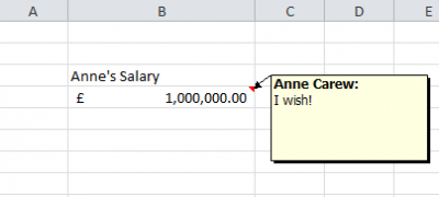 Working with Comments in Excel