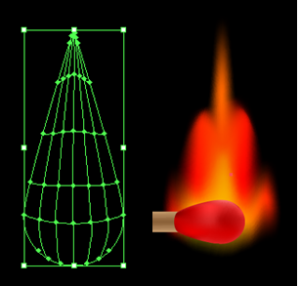 Basic shape of how the flame should look