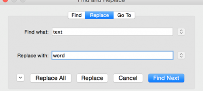 Using Find and Replace and Using GoTo