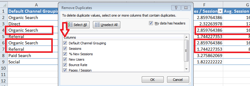 Excel For SEO - Ch 1 - 7 Deduplicating