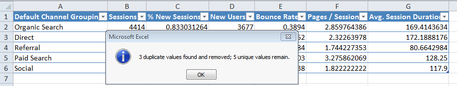 Excel For SEO - Ch 1 - 8 - Finished Deduplicating