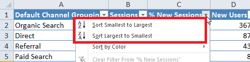 Excel For SEO - Ch 1 - 9 - Sorting Number