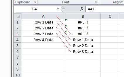 Excel For SEO - Appendix 1 - 10 - #REF Error Illustration
