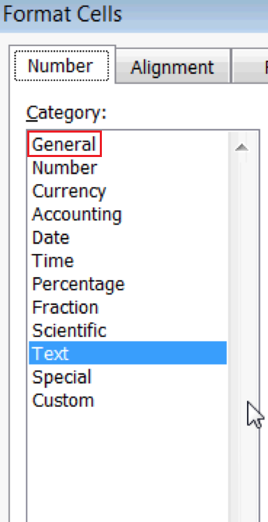 Excel For SEO - Appendix 1 - 22 - Change Cell Formatting To General 2