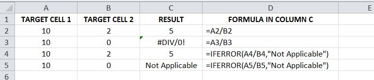 Excel For SEO - Appendix 1 - 7 IFERROR snip