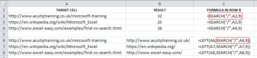 Excel For SEO - Ch 2 - 06 - SEARCH