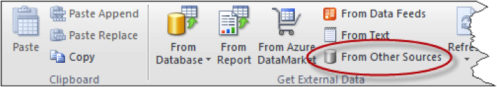 Ch 2 - 10 - Excel PowerPivot Data From Other Sources