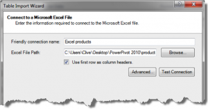 Ch 2 - 12 - Excel PowerPivot Table Import Wizard 2