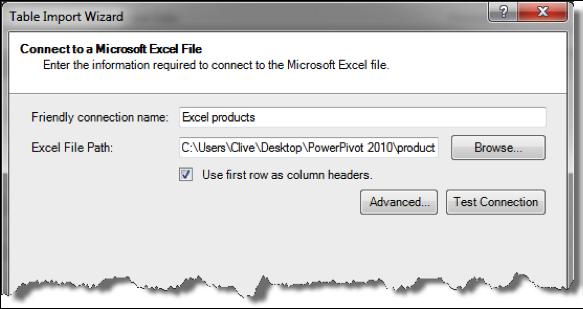 Ch 2 - 12 - Excel PowerPivot Table Import Wizard 2