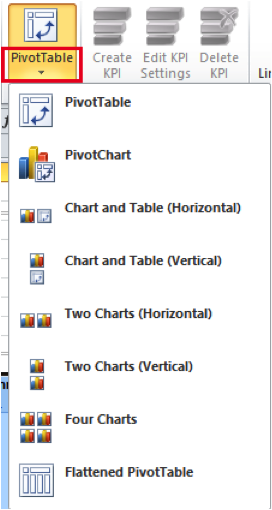 Ch 7 - 1 - Excel PowerPivot PivotCharts Selection Button