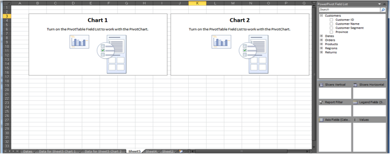 Ch 7 - 2 - Excel PowerPivot PivotCharts Two Horizontal Charts