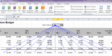 Formula Auditing in Excel