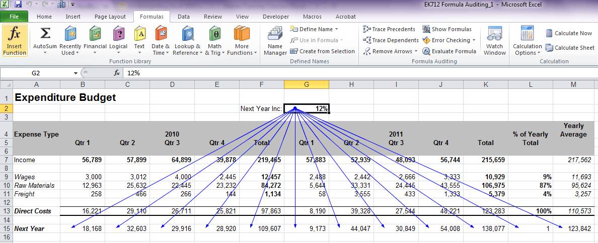 Microsoft Excel: How To Audit Formulas To Ensure They're Correct