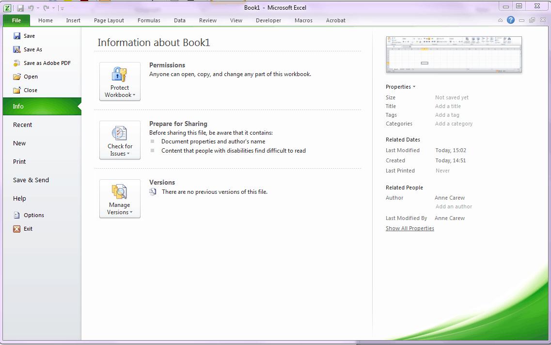Excel 2010 Orientation
