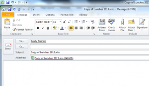 How to send an Excel file without opening outlook