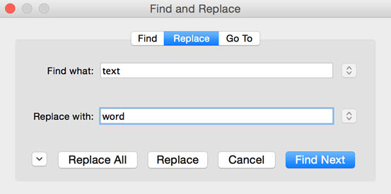 Microsoft Word: Using Find and Replace and Using GoTo