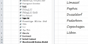 Excel Font Formatting