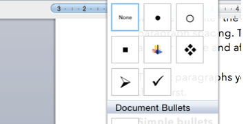 Microsoft Word: Paragraph Formatting – Text alignment / line spacing / paragraph spacing / simple bullets