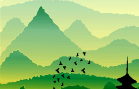 Adobe Illustrator: Creating a hilly scene with a sense of depth