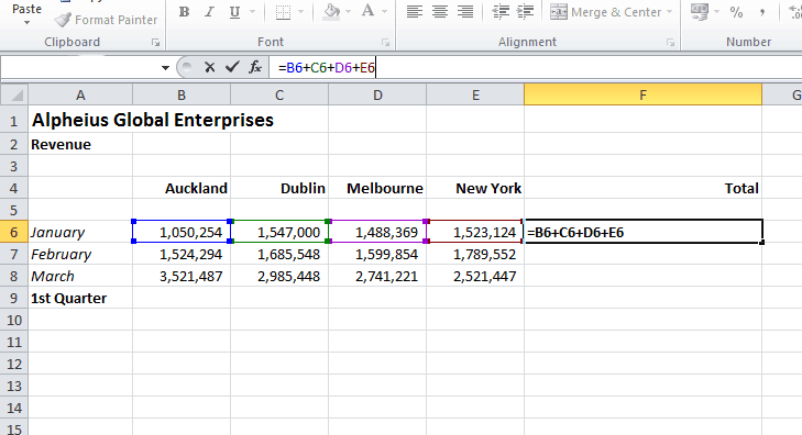 Relative Cell References in Excel Formulas