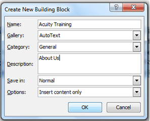 How to Create and Use a Building Block in Word