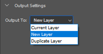 Selecting Output Settings in Photoshop