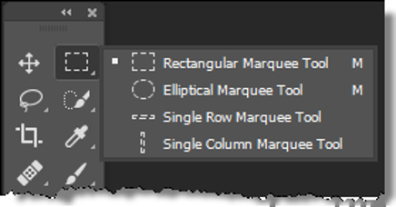 The Marquee Tools Menu